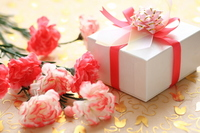 Carnation and gifts Stock photo [764926] Mother's