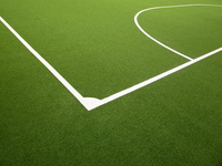 Corner line of artificial turf Futsal Court Stock photo [765319] Futsal