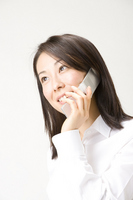 Woman speaking on a mobile phone Stock photo [846403] Business