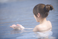 Women entering the hot spring Stock photo [852855] Hot