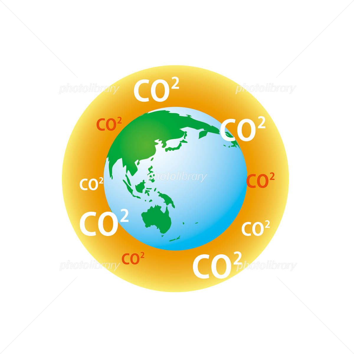 地球温暖化イメージ イラスト素材 [ 928092 ] - フォトライブラリー ...