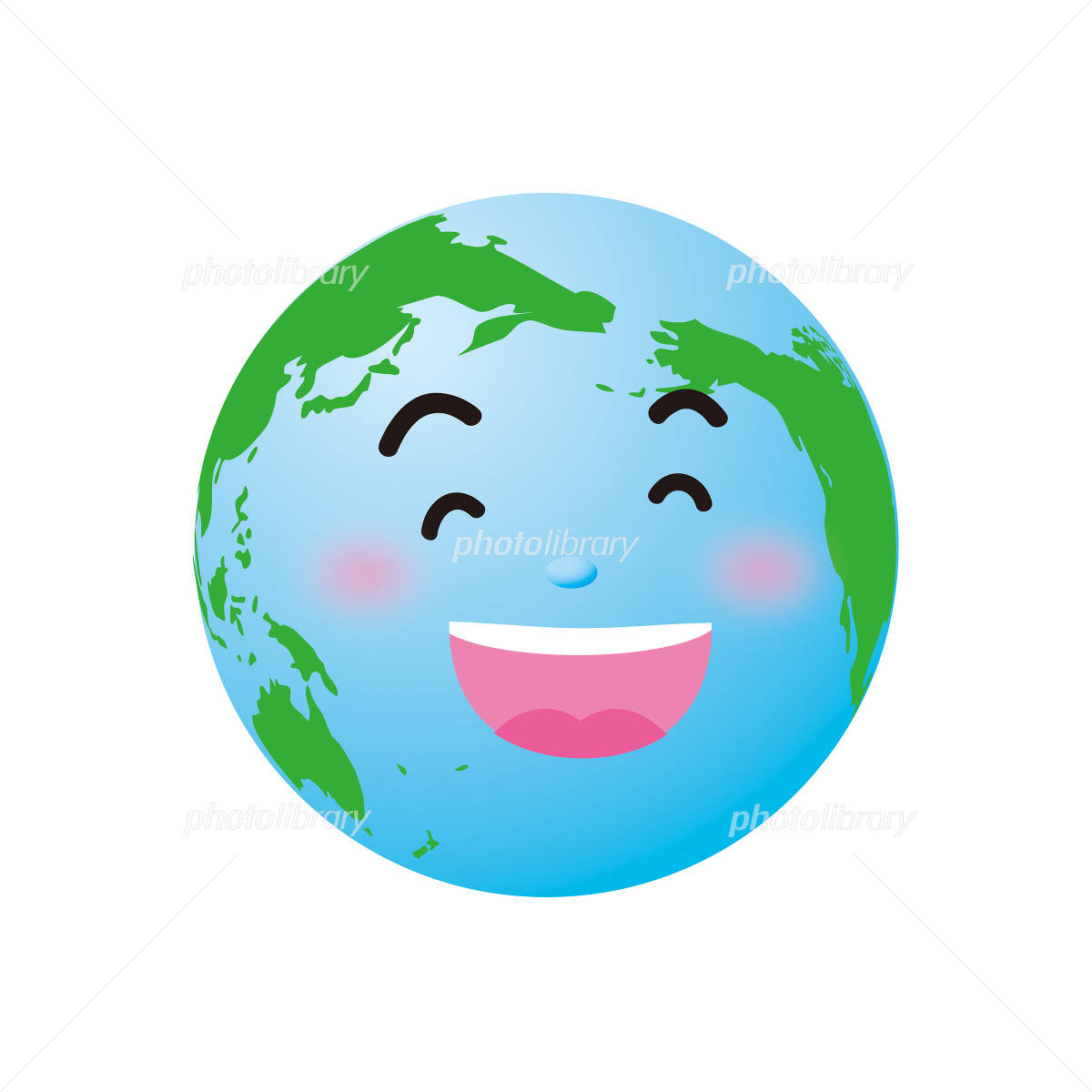 笑う地球のイラスト イラスト素材 929163 フォトライブラリー