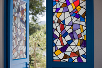 Entrance of the stained glass Stock photo [925663] Entrance