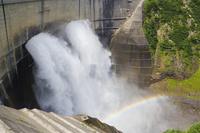 Rainbow across the Kurobe Dam Stock photo [929314] Kurobe