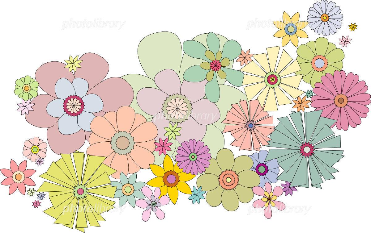 可愛い花 イラスト素材 1031416 フォトライブラリー Photolibrary
