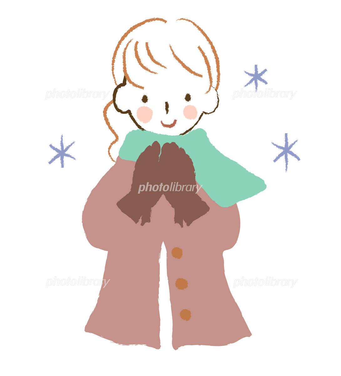 コートを着た女性 イラスト素材 [ 1032330 ] - フォトライブラリー