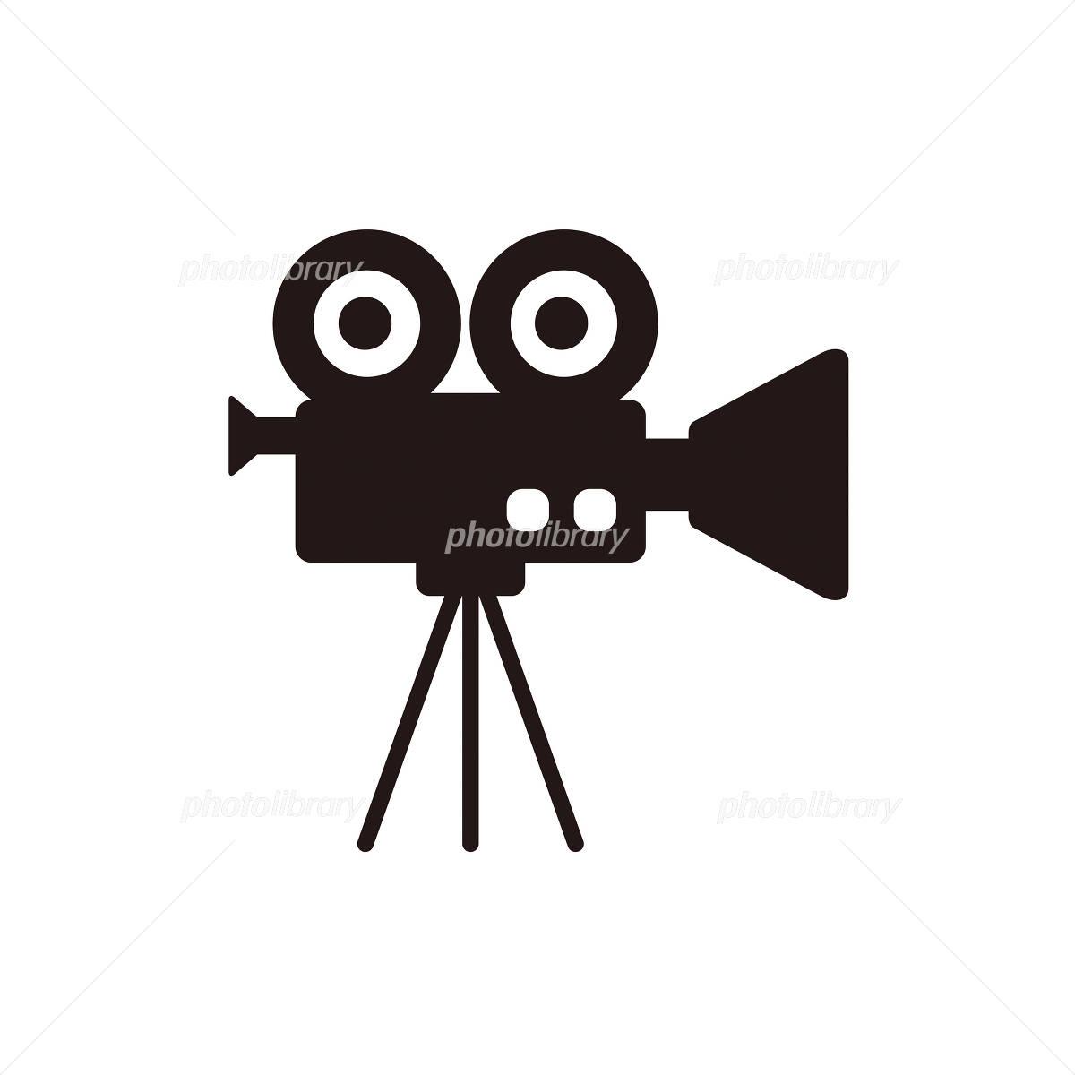映画用カメラのアイコン イラスト素材 [ 1033190 ] - フォトライブラリー