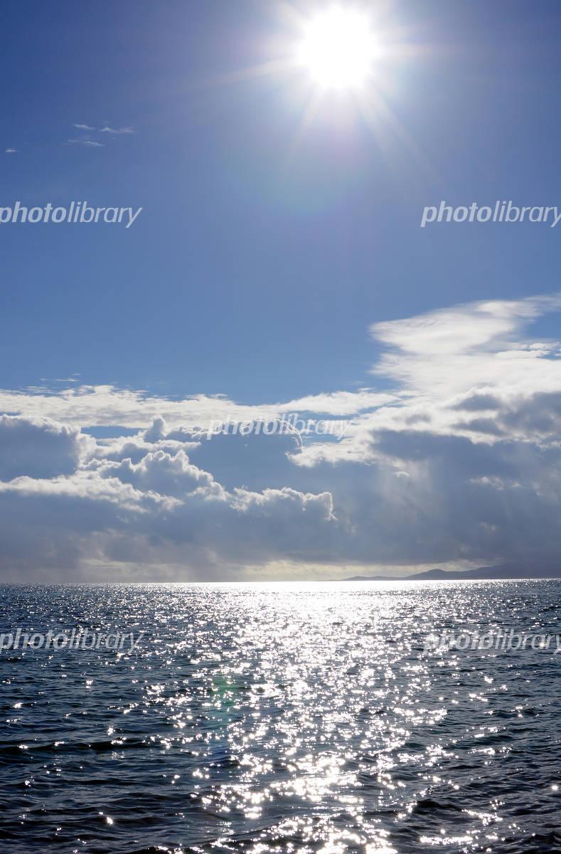 太陽と空と海