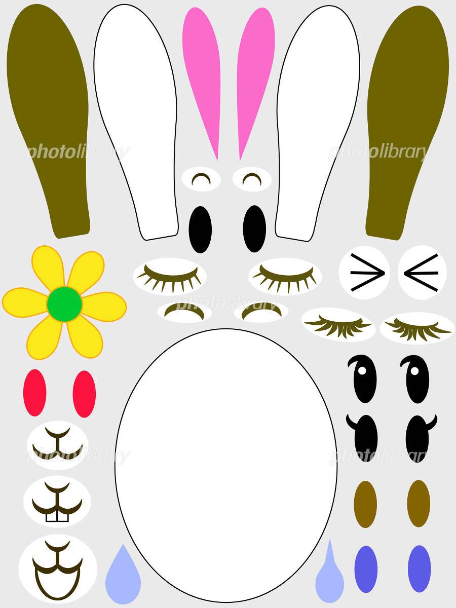 ウサギの福笑い イラスト素材 1035826 フォトライブラリー