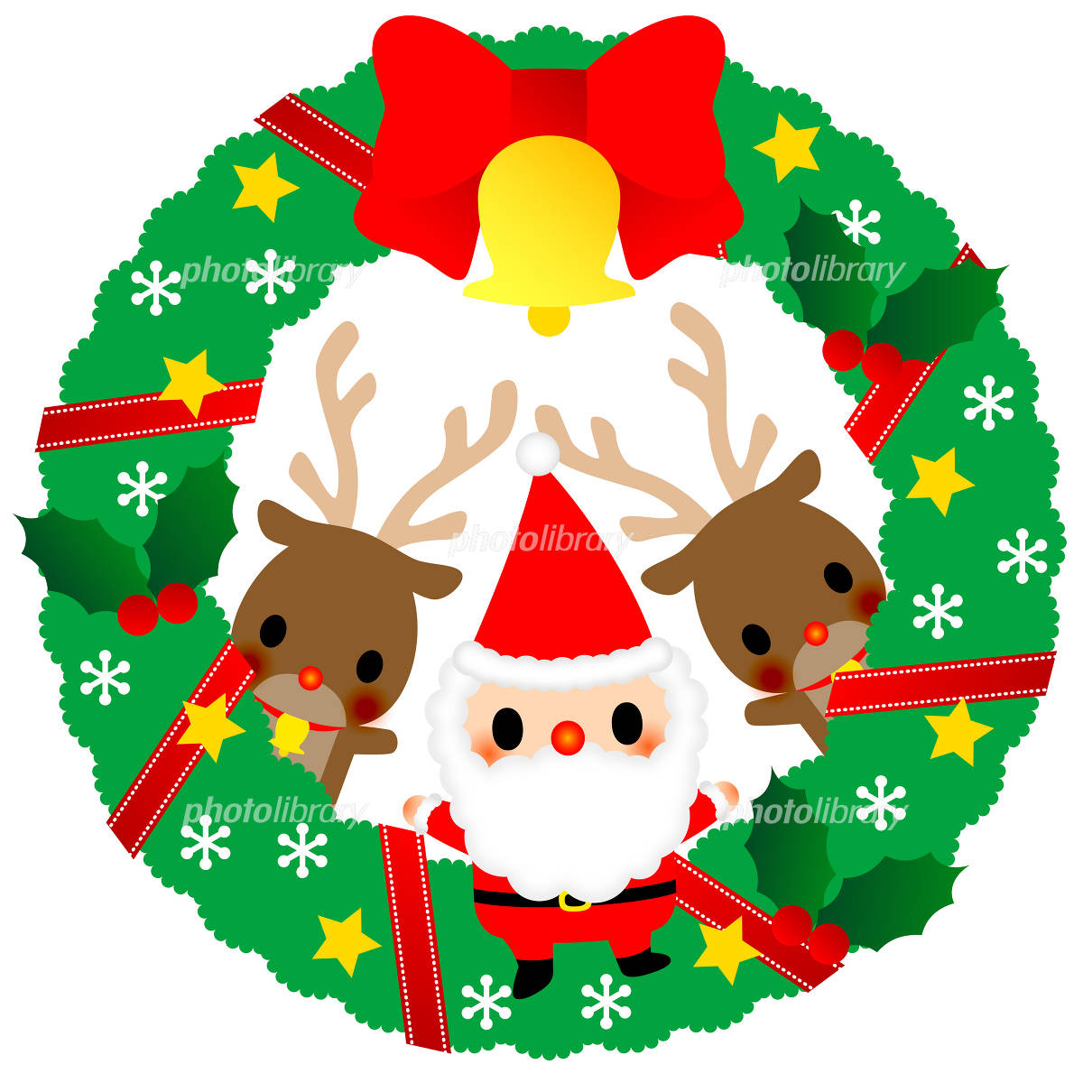 クリスマスリース イラスト素材 1041069 フォトライブラリー
