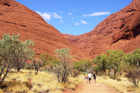 Hiking the Valley of the Wind Kata Tjuta Stock photo [1028717] Overseas