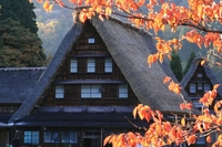 Gokayama Suganuma village of autumn Stock photo [1040786] Gokayama
