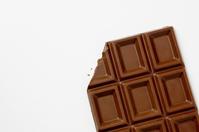 Up of chocolate broken in white background Stock photo [1144664] Chocolate