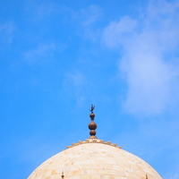 Taj Mahal of tip and blue sky Stock photo [1145089] Asia