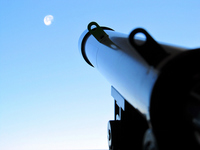 Month of astronomical telescope and morning Stock photo [1145356] Astronomical