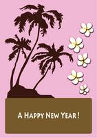 Hawaiian greeting cards pink background [1145987] Hawaii