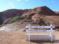 Ayers Rock trailhead Stock photo [1147262] Australia