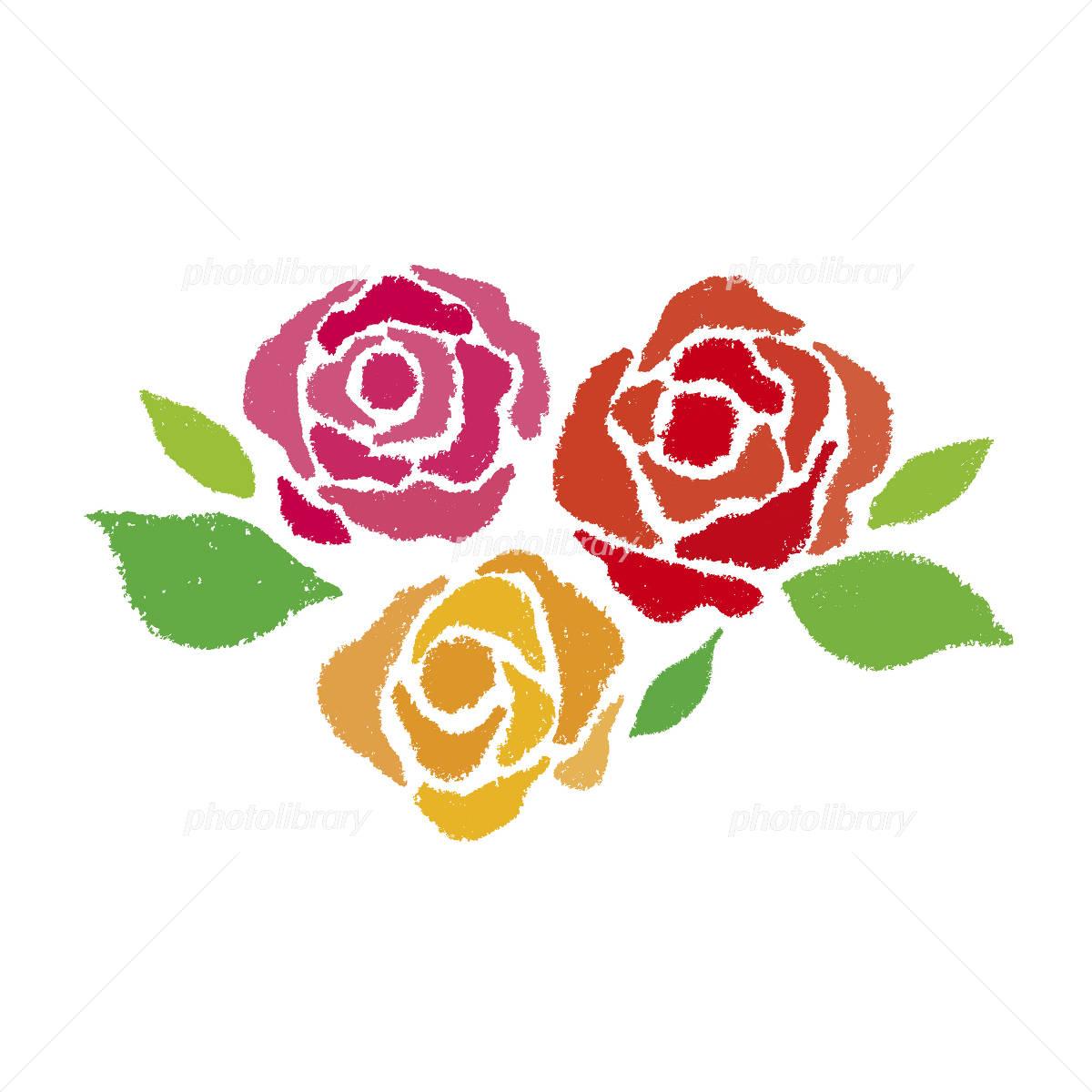 クレヨンのバラ