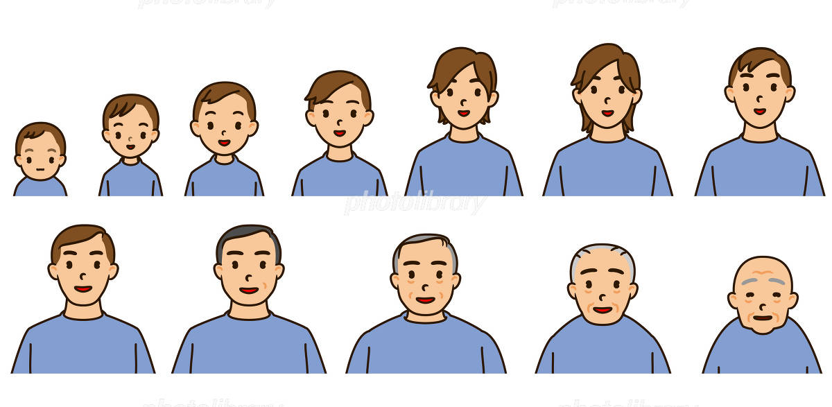 人の一生年代別変化-写真素材 人の一生年代別変化 画像ID 1340661  人の一生年代別変化