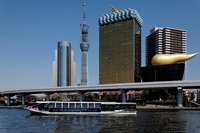 Sumida River pleasure boat River Town and Tokyo Sky Tree Stock photo [1422983] Pleasure