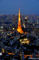 Tokyo Tower and Bill Stock photo [1425781] Tokyo