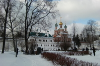 Novu~odevu~itchi monastery north and the church on the south of the gate Stock photo [1428340] Novodevichy