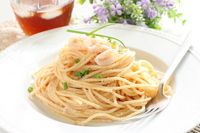 Cod roe and squid pasta cafe image Stock photo [1428986] Cafe