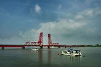Chikugo River Lift Bridge Stock photo [1430440] Chikugo