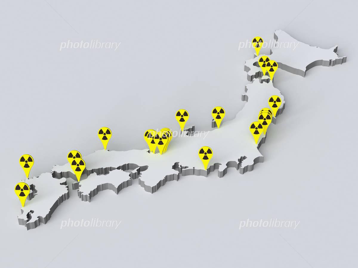日本の原発所在地 イラスト素材 1525724 フォトライブラリー