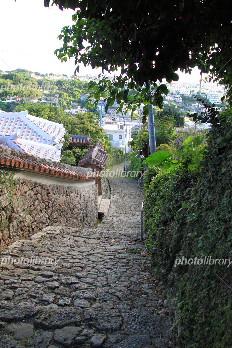 Okinawa Shurikinjo the town of cobblestone road Photo