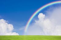 Grassland and rainbow Stock photo [1520302] Prairie