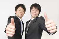 Young businessman to thumbsup Stock photo [1525648] Businessman