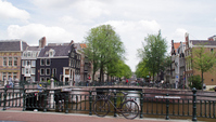 Landscape along the Amsterdam canal Stock photo [1526573] Amsterdam