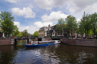 Amsterdam Canal and cruise ship Stock photo [1526578] Amsterdam