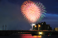 Fireworks and Bandaibashi night view Stock photo [1527566] Fireworks
