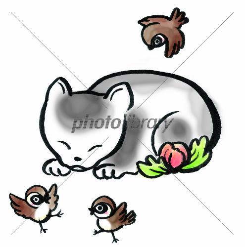 眠り猫 イラスト素材 1636413 フォトライブラリー Photolibrary