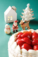 Santa Claus us and Christmas cake Stock photo [1624397] Santa