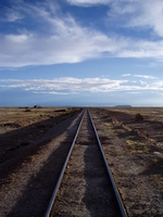 Line running through the Andes Stock photo [1626667] Uyuni