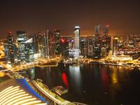 Singapore night view Stock photo [1628808] Singapore