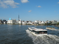 Sumida River water bus and Tokyo Sky Tree Stock photo [1629627] Sumida