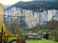 Car window landscape of Switzerland mountain railway Stock photo [1632650] Switzerland