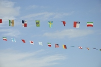 Fluttering flags of all nations Stock photo [1634752] National