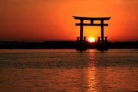 Sunset in the torii Stock photo [1635259] Torii