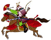 Sengoku warlords ride a horse Warring