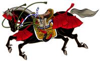 Samurai of horse Warring