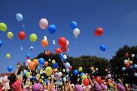 Balloon that was emitted Stock photo [1637102] Saitama