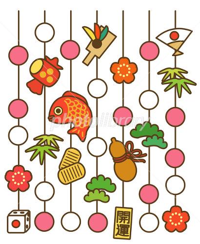正月飾り イラスト素材 1729096 フォトライブラリー Photolibrary