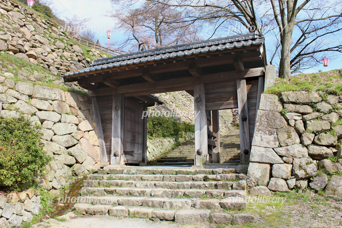 Tottori Castle restoration gates Photo