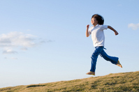 girl running Stock photo [1728527] Kids