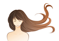 Illustrations female hair color ring stock photo